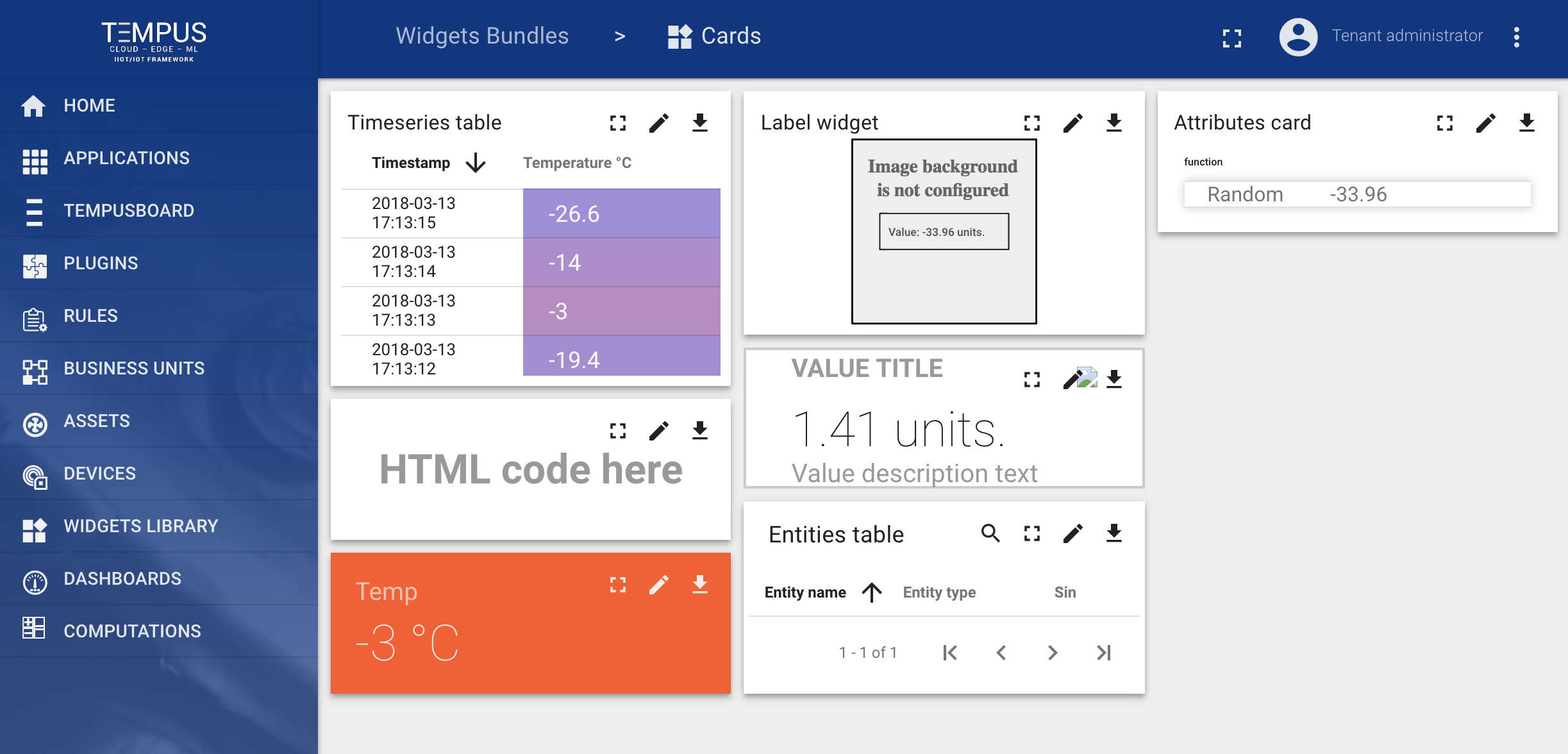 Widget Library — Tempus Cloud 1 3 documentation